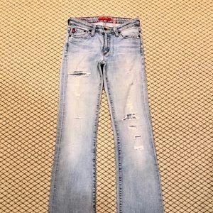Big Star Ripped Boot Cut Jeans